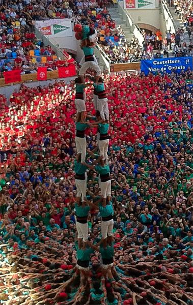 4 de 9 dels Castellers de Vilafranca