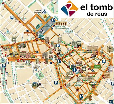 Els carrers que formen part del Tomb de Reus