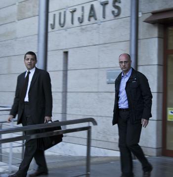Eduard Ortiz, a la sortida de la seva declaració