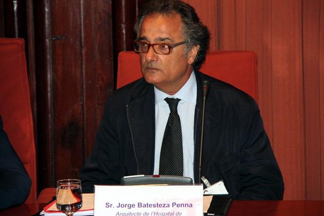 Imatge de la compareixença de Jorge Batesteza al Parlament distribuïda per l'Agència Catalana de Notícies.