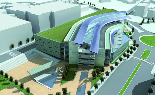 Una imatge del centre comercial que Metrovacesa va projectar i que ha passat ja a la història.