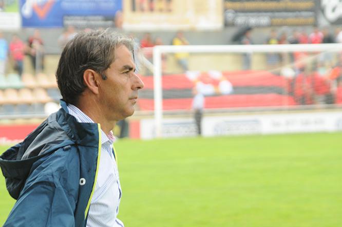 L'entrenador, Natxo González, no ha pogut dirigir avui el partit des de la banqueta, per sanció. (Foto: FD/Arxiu)