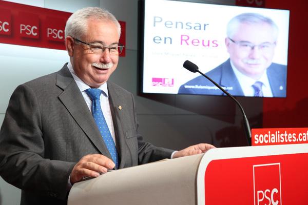Una imatge d'arxiu de l'exalcalde de Reus, el socialista LLuís Miquel Pérez.
