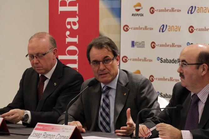Artur Mas ha presidit el col·loqui dels dinars Cambra. Foto: Xavi Jurio.