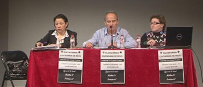 Una imatge de la presentació de la Plataforma Ciutadana de Reus
