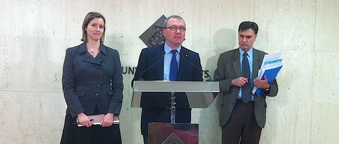 Alicia Alegret, Carles Pelicer i Joaquim Enrech