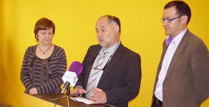 Josep Maria Sabaté, amb Coia Roig i Sergi de los Rios.