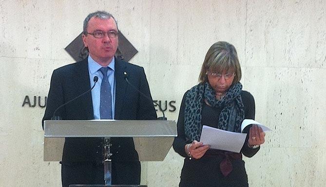 L'Alcalde de Reus, Carles Pellicer i la Presidenta d'Innova, Teresa Gomis.