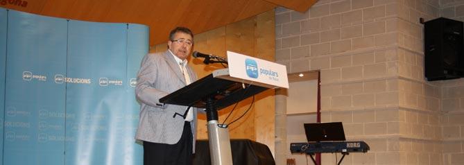 Miquel Àngel López Mallol en un acte electoral a les passades eleccions municipals.