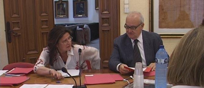 Josep Prat, en una de les darreres reunions d'Innova. / Canal Reus TV