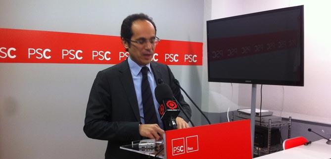 Francesc Vallès, ahir a la tarda a la seu del PSC a Reus. /Delcamp.cat