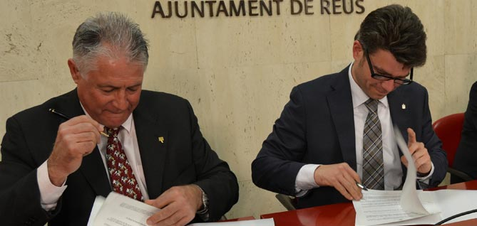 El regidor Marc Arza i el president de la Cepta, Antoni Belmonte