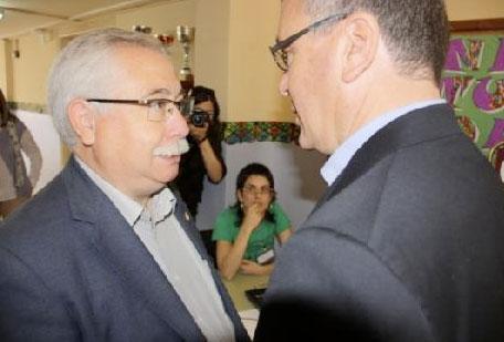 Lluís Miquel Pérez i Carles Pellicer, en una imatge d'arxiu
